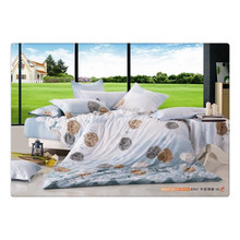 100 de algodón 40s 128 * 68 de lujo suave de alta calidad de impresión de pigmentos ropa de cama de lino
