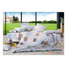 100 хлопок 40s 128 * 68 роскошная мягкая высококачественная пигментная печать постельное белье