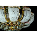 K9 Crystal Chandeliers Lighting Pendant Hanging Lamps Light Fixture Gold