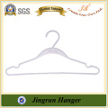 Hot sale 40CM White flat Plastic hanger for clothes