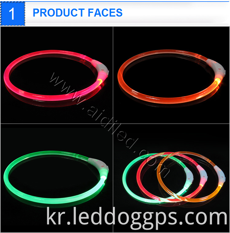 Usb Rechargeable Flashing Dog Collar Band For Nighttime