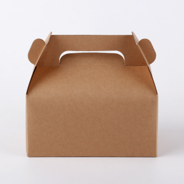 Caja de pastel de caja de papel artesanal con mango