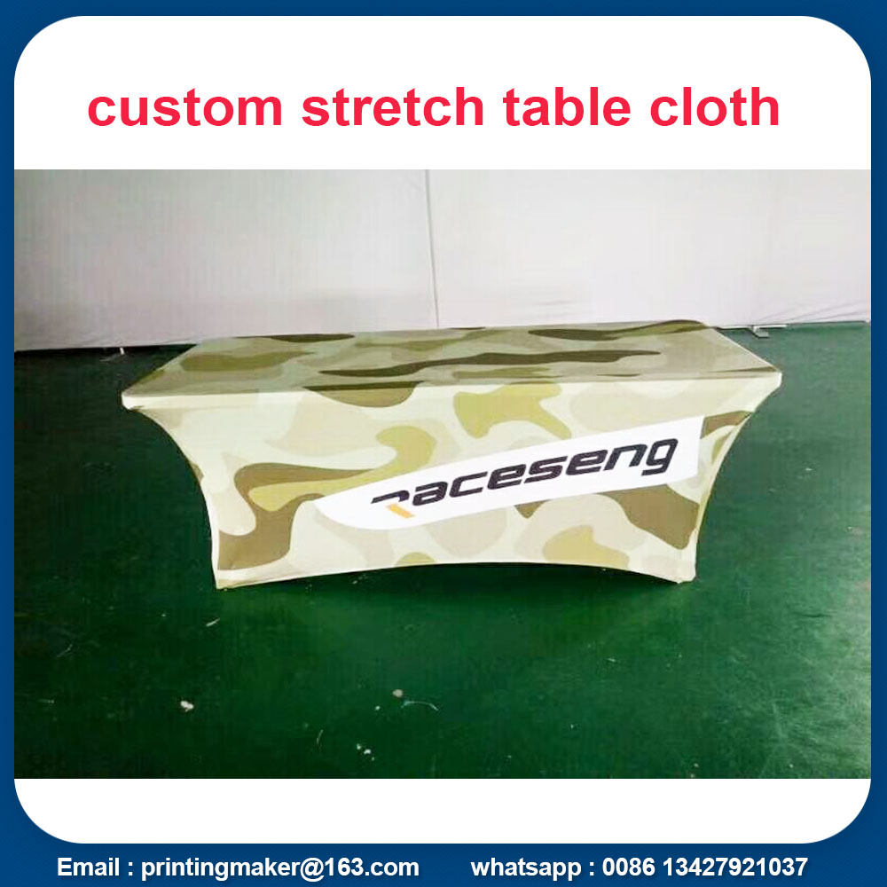 stretch tension fabric table throw