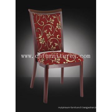 Chaise de restaurant à grains en bois moderne en aluminium pour salle à manger (YC-E62)