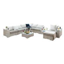 Villa rattan sofa sets wicker corner sofa garden furniture