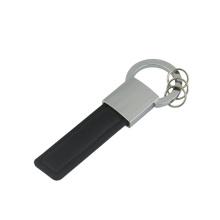 Ausgezeichnete Förderung Zink-Legierungs-Leder-Schlüsselring mit Firmenzeichen (F3064)
