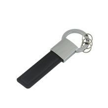 Excellent Promotion Zinc Alloy Leather Keyring with Logo (F3064)