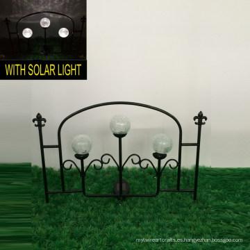 3 Bola De Cristal Luces Solares Decoración De Jardín De Metal Artesanía De Cerca