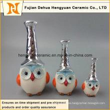 Búho colorido hecho a mano de cerámica del nuevo diseño