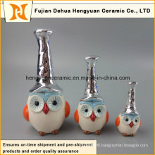 New Design Ceramic Hand-Made Colorful Owl