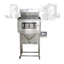 1000g ten scale bucket elevator 2 heads vertical pillow 30 kg weight process candy scale filler weight packing machine