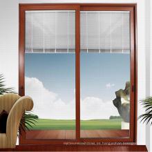 Feelingtop persianas de aluminio recubiertas de energía persianas deslizan la puerta