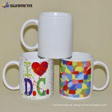 Sunmeta 11oz Branco Branco Sublimação Ceramic Coating Mug Feita na China a preço baixo Atacado