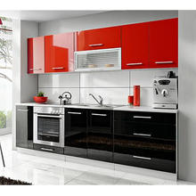 2016 New European Style Hotel Project Wood Kitchen Cabinet (UV finished)
