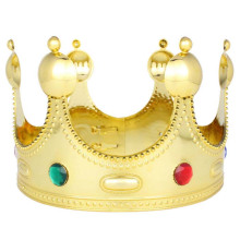 Majestueux Royal Gold King Prince Queen Jeweled Couronne Diadème