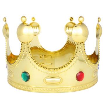 Majestic Royal Gold König Prinz Königin Jewelled Crown Tiara