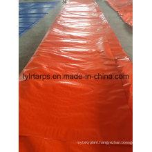 Polyethylene Tarpaulin Truck Cover, PE Tarp Roll, Orange Poly Tarpaulin