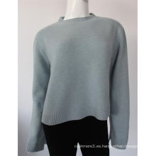 El nuevo ordenador de diseño hizo punto el suéter 100% puro del suéter de la cachemira para las señoras