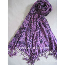 Viscose print floral scarf custom made