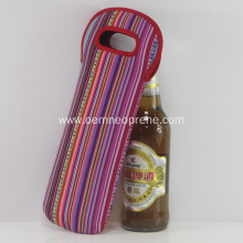 Stylish Striped Cheap Neoprene Wine Bottle Holders