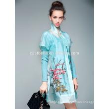 2016 nuevas mujeres transpirable floral imprimió chaquetas bordadas chaqueta bordada