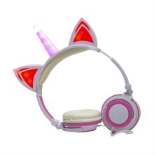 Light Up Laptop Used Unicorn Wired Headphones