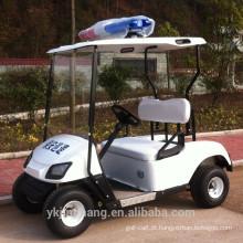 Carros de golfe alimentados a gás de mini polícia de 2 lugares para a comunidade