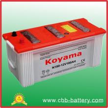 Bateria de carro de carga seca de 12V 180ah para barco, caminhão, gerador