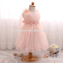 Wholesale Child Clothes Baby Girl Baptism Dress Sweet Girl Rhinestone Tulle Princess Cute Dress