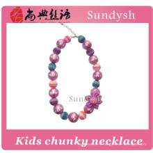 princesse enfants en vrac perle en gros chunky bubblegum collier pour les filles