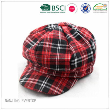 100% cotone Plaid Ivy Cap
