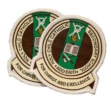 High Quality School Uniform Patch Woven Custom Badges