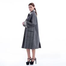 Nuevo modelo de cachemir abrigo con felpa