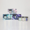 2*80g paraffin/soy wax scented candle in glass jar in gift box home decor