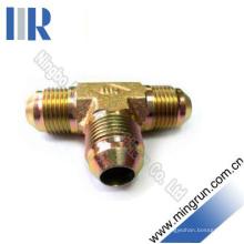 Jic Male 74 Cone Tee Tee Adaptador hidráulico para tubo (AJ)