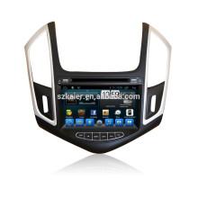HOT! Voiture dvd avec lien miroir / DVR / TPMS / OBD2 pour 8 pouces écran tactile complet 4.4 Android système Chevrolet Cruze 2014