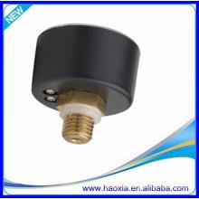 Calibre de presión neumático de 40 mm con caja de acero negro