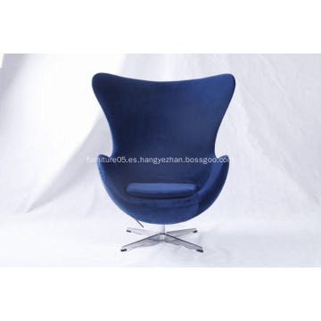 silla de tela de terciopelo silla de huevo