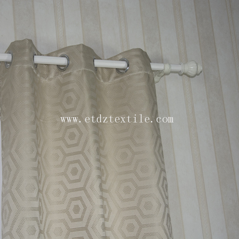 High Grade of Polyester Jacquard Curtain Fabric WZQ163 Ivory