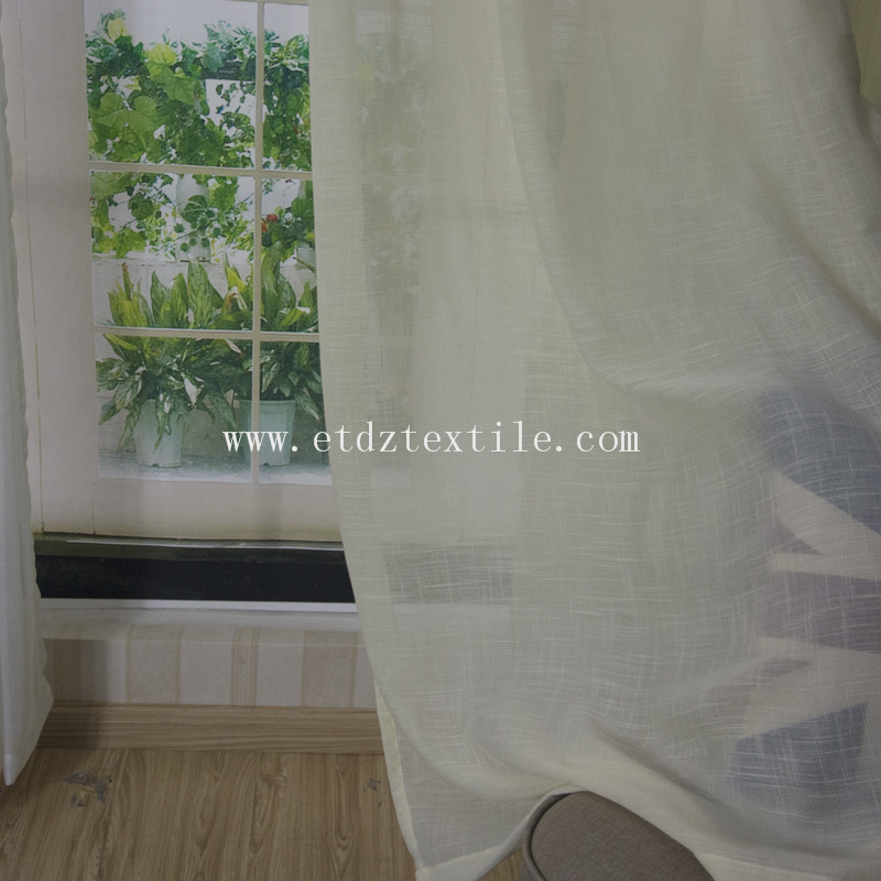 Plain Sheer Curtain Fabric