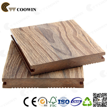 Decking compuesto de madera libre de la muestra Decking incombustible compuesto de madera original al aire libre de madera del color de madera