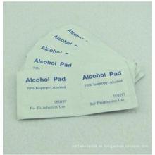 Almohadilla de preparación de alcohol con 65X35 mm