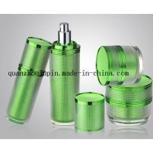 Grupo cosmético da garrafa de perfume da loção de creme plástica do frasco do OEM