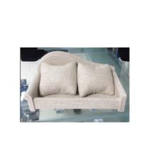 Mobília de exposição bege do relógio do estilo do sofá de linho (WS-Sofá-BL)