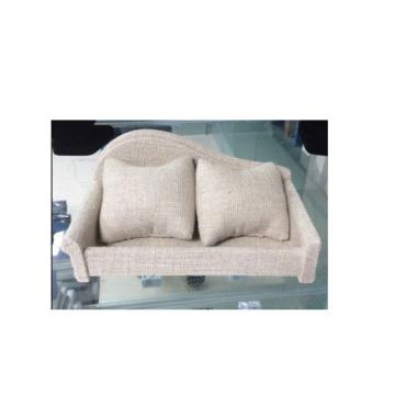 Beige Linen Sofa Style Watch Display Furniture (WS-Sofa-BL)