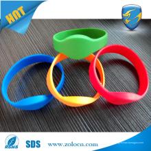 Pulseiras de RFID de silicone reutilizáveis de alta qualidade personalizadas para o Gym Fitness Club