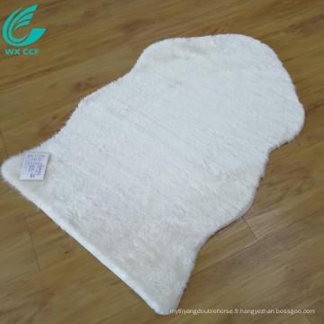 coureur blanc en peau de mouton fourrure zone tapis vente
