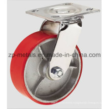 4inch Heavy-Duty Iron PU Swivel Caster Wheel