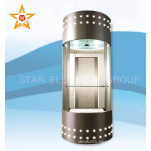 Beautiful sightseeing glass elevator for office buildings