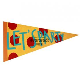 """Let's Party"" Mega Felt party bunting"